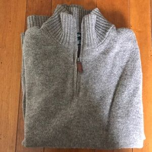 J Crew wool quarter zip sweater